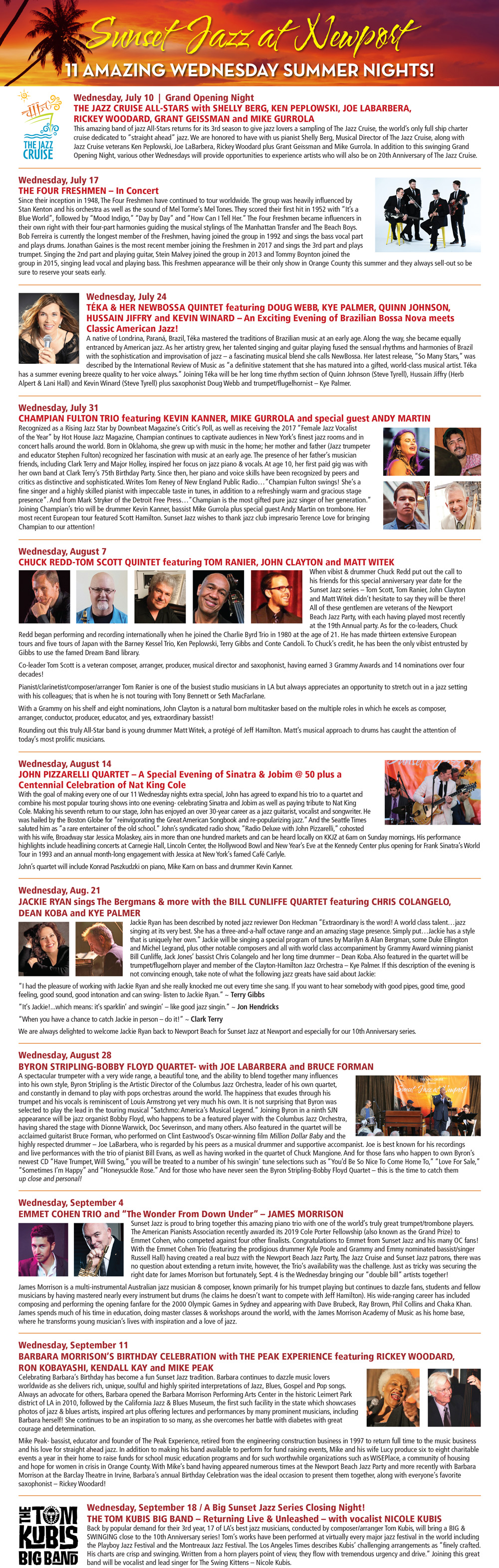 Sunset jazz series at Newport Beach Marriott – Art and Culture Events in  Orange County